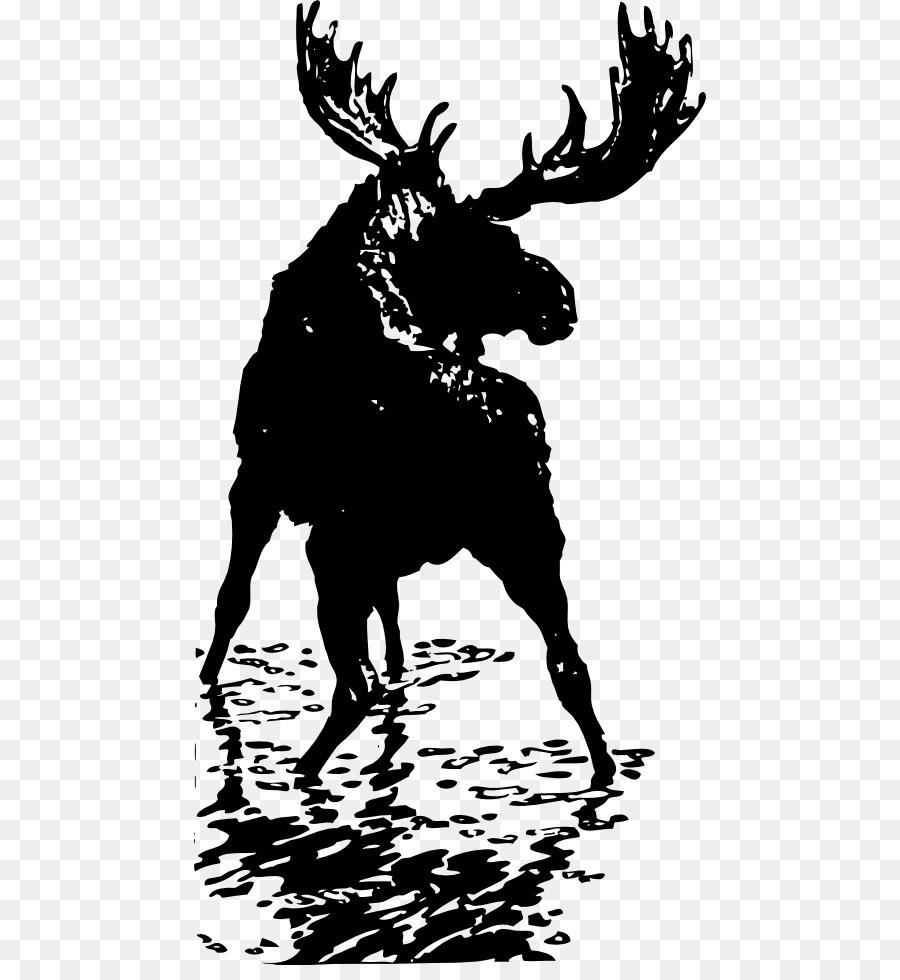 hight resolution of moose deer elk art silhouette png