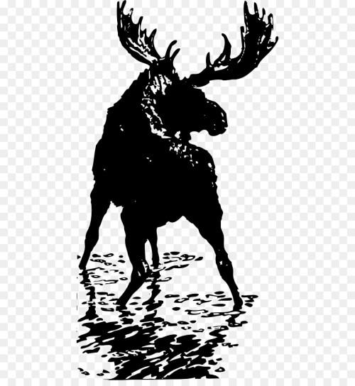 small resolution of moose deer elk art silhouette png