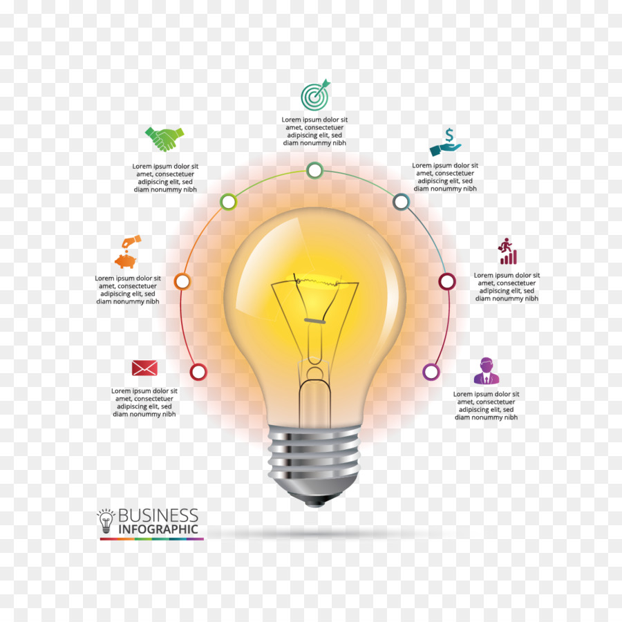 hight resolution of infographic chart incandescent light bulb diagram text png