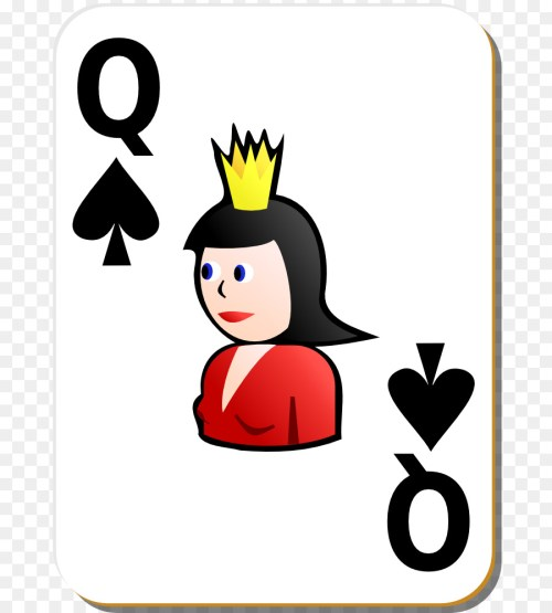 small resolution of queen playing card queen of spades smile artwork png
