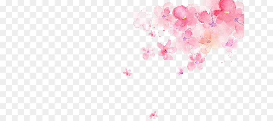 Paint Falling Wallpaper Paper Watercolor Painting Art Petal Cherry Blossoms