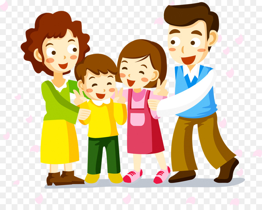 Gambar Animasi Happy Family