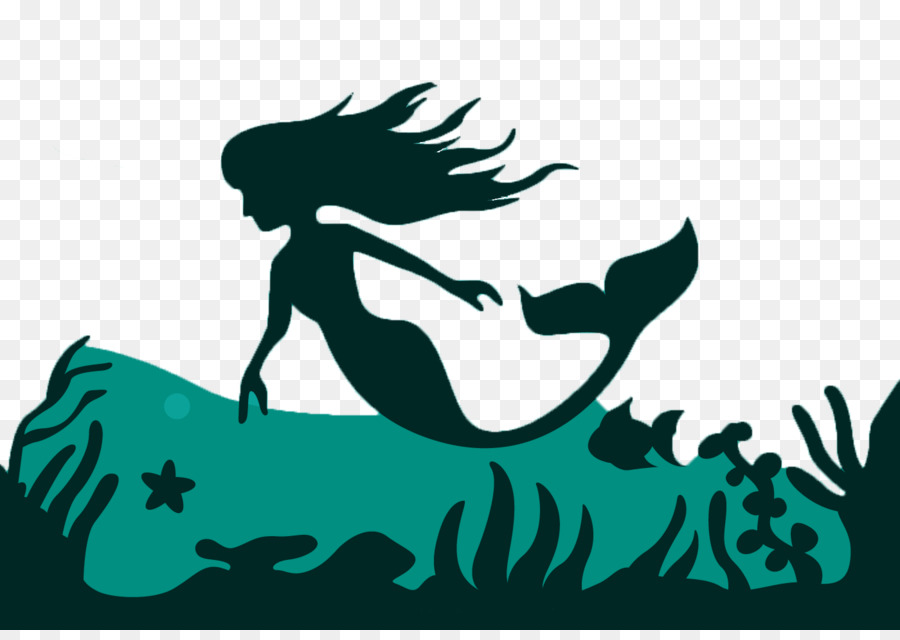 Fairy Tail Wallpaper Hd Mermaid Silhouette Fairy Tale Illustration Mermaid Png