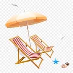 Beach Chairs And Umbrella Ikea Reclining Chair Clip Art Png