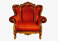 Chair Couch Furniture - Big gold orange carved royal ...