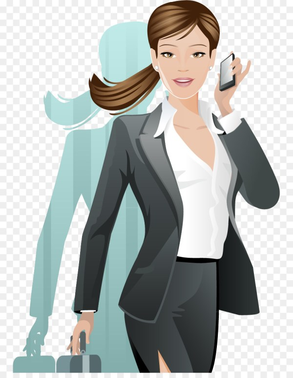 Woman Illustration - White-collar Beauty Vector Material