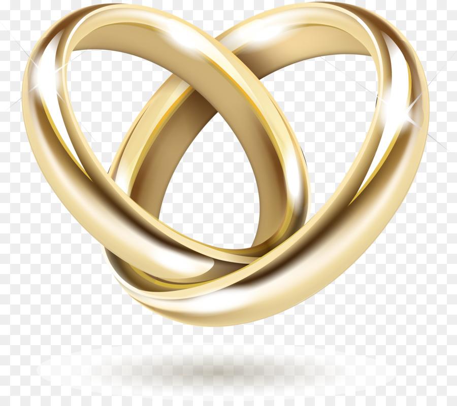 Wedding invitation Gold Wedding ring  Vector gold ring