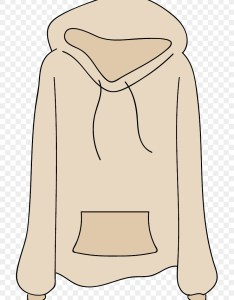 Hoodie clip art vector warm winter clothes sweater also rh kiss