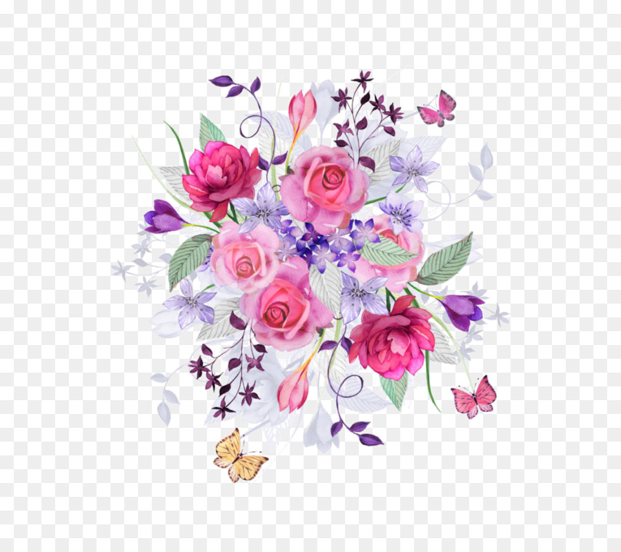 Flower We Heart It Paper Drawing Wallpaper Pink Roses