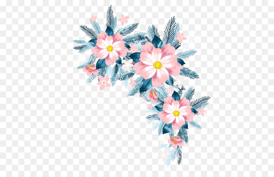 floral spring flowers vector