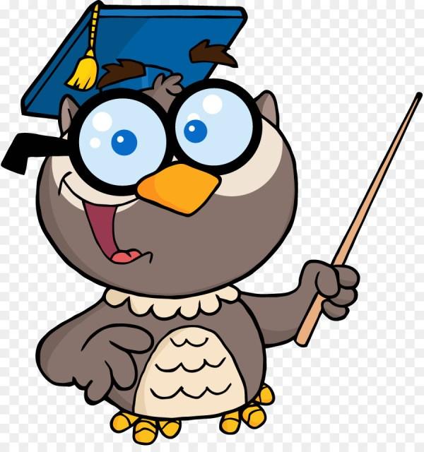 owl teacher education clip art