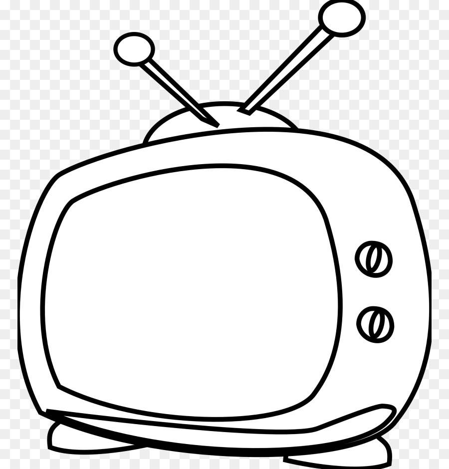 hight resolution of television cartoon black and white line art head png