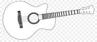Electric guitar Black and white Line art Clip art - Guitar ...