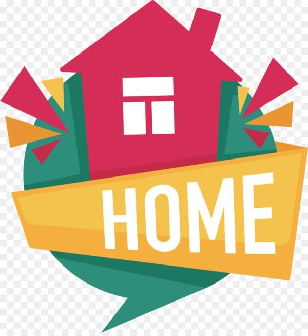 House Cartoon Logo - Real Estate Design