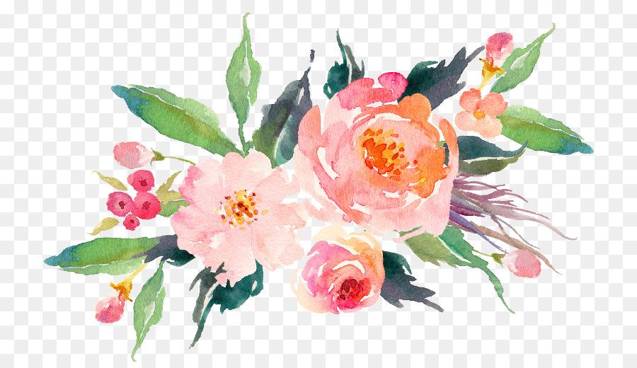 Orange Fall Peonies Wallpaper T Shirt Paper Flower Bouquet Watercolor Painting Flower