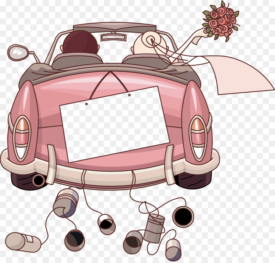 Car Wedding invitation Clip art  Just Married png