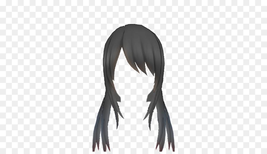 Yandere Simulator Long hair Black hair Wig  long hair 512