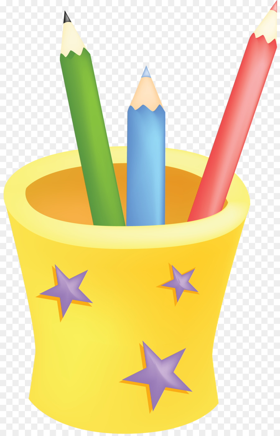 Stationery Brush pot Pencil Cartoon  drawn png download