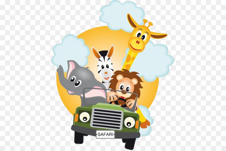 Safari Sticker Party  Baby Animals Png Download  600*600