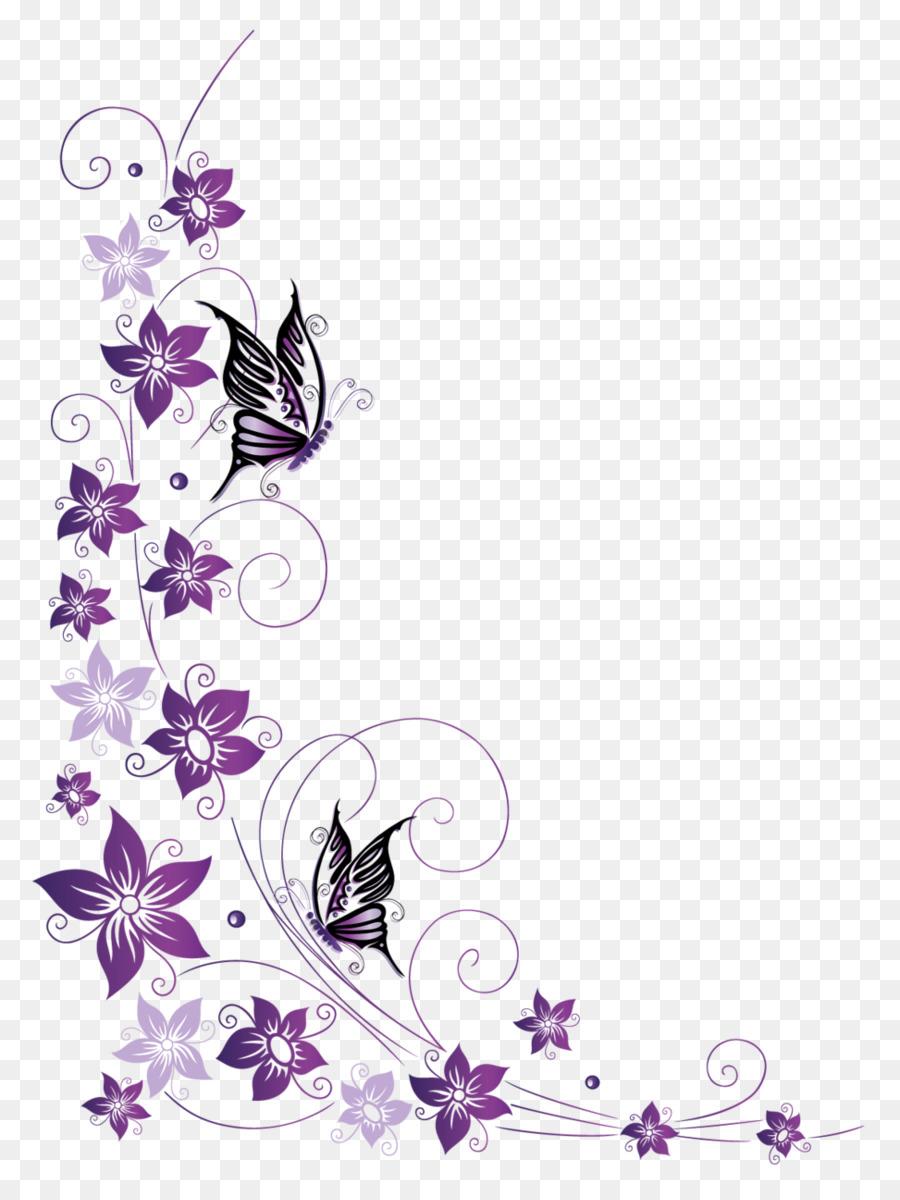 Butterfly Royaltyfree Clip art  butterfly border png