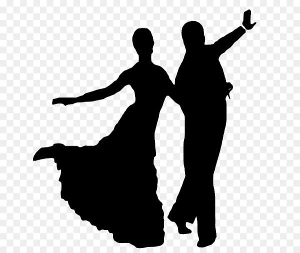 La silueta de Foxtrot de baile de Salón Jive el baile