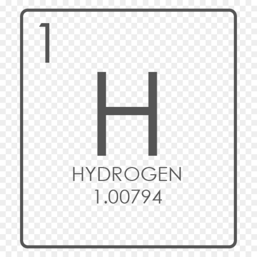 hight resolution of hydrogen chemical element symbol diagram square png