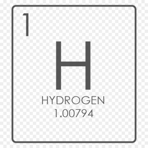 small resolution of hydrogen chemical element symbol diagram square png