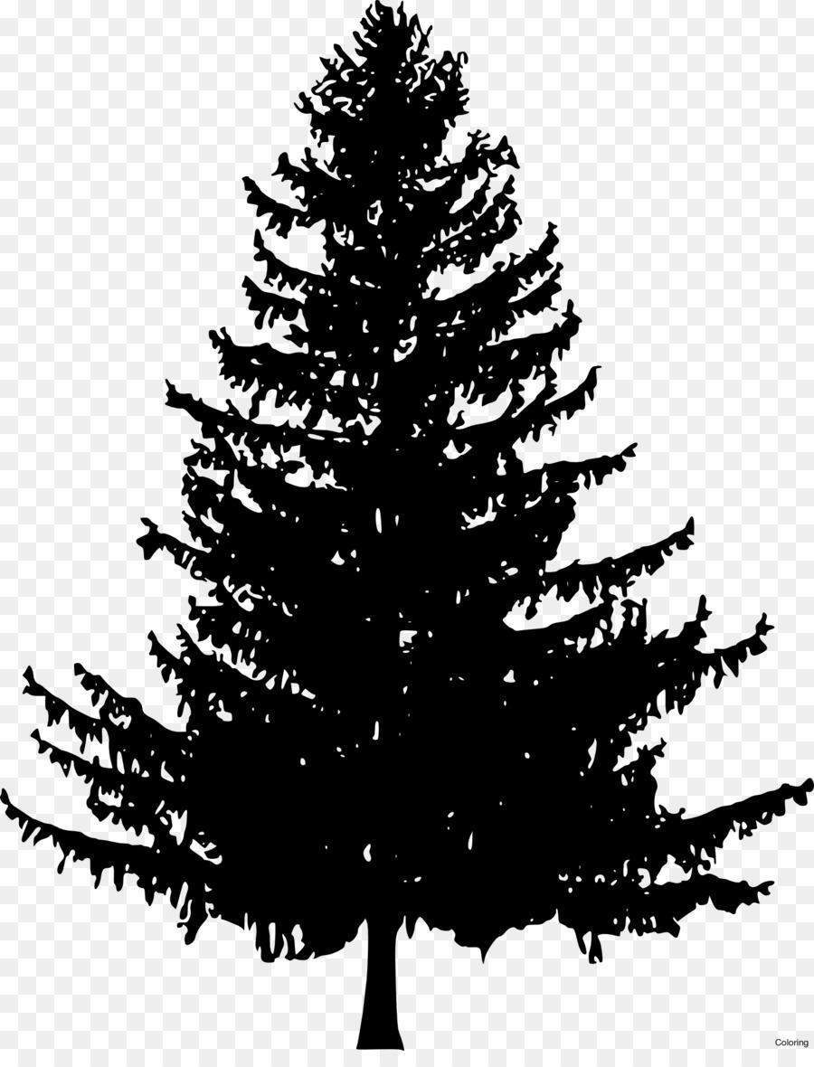 christmas tree line drawing