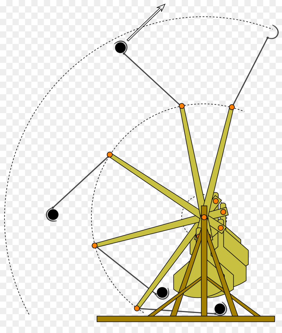 hight resolution of trebuchet catapult physics angle point png