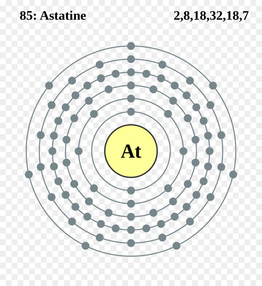 hight resolution of astatine electron shell chemical element angle symmetry png