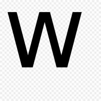 Letter W Alphabet Clip art - creative letters png download ...