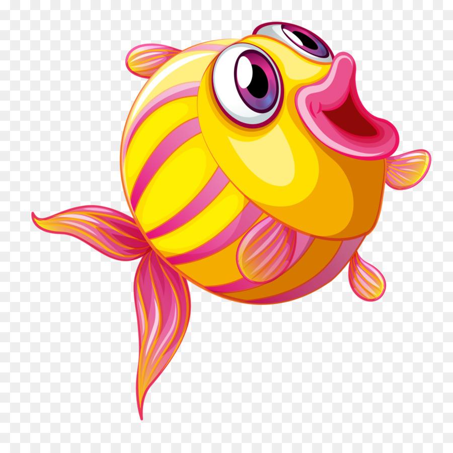 hight resolution of drawing fish cartoon pink png