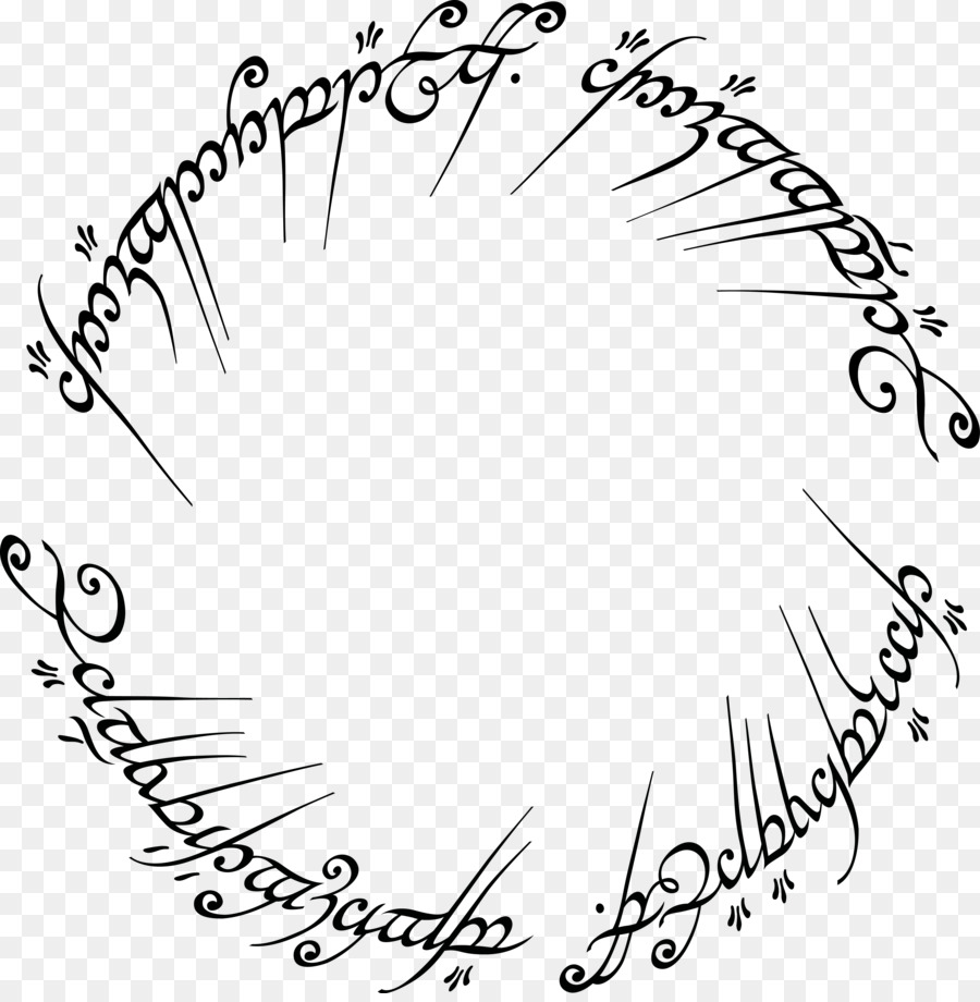 The Lord of the Rings One Ring Black Speech Etsy