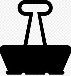 paper binder clip paper clip symbol black png [ 900 x 940 Pixel ]