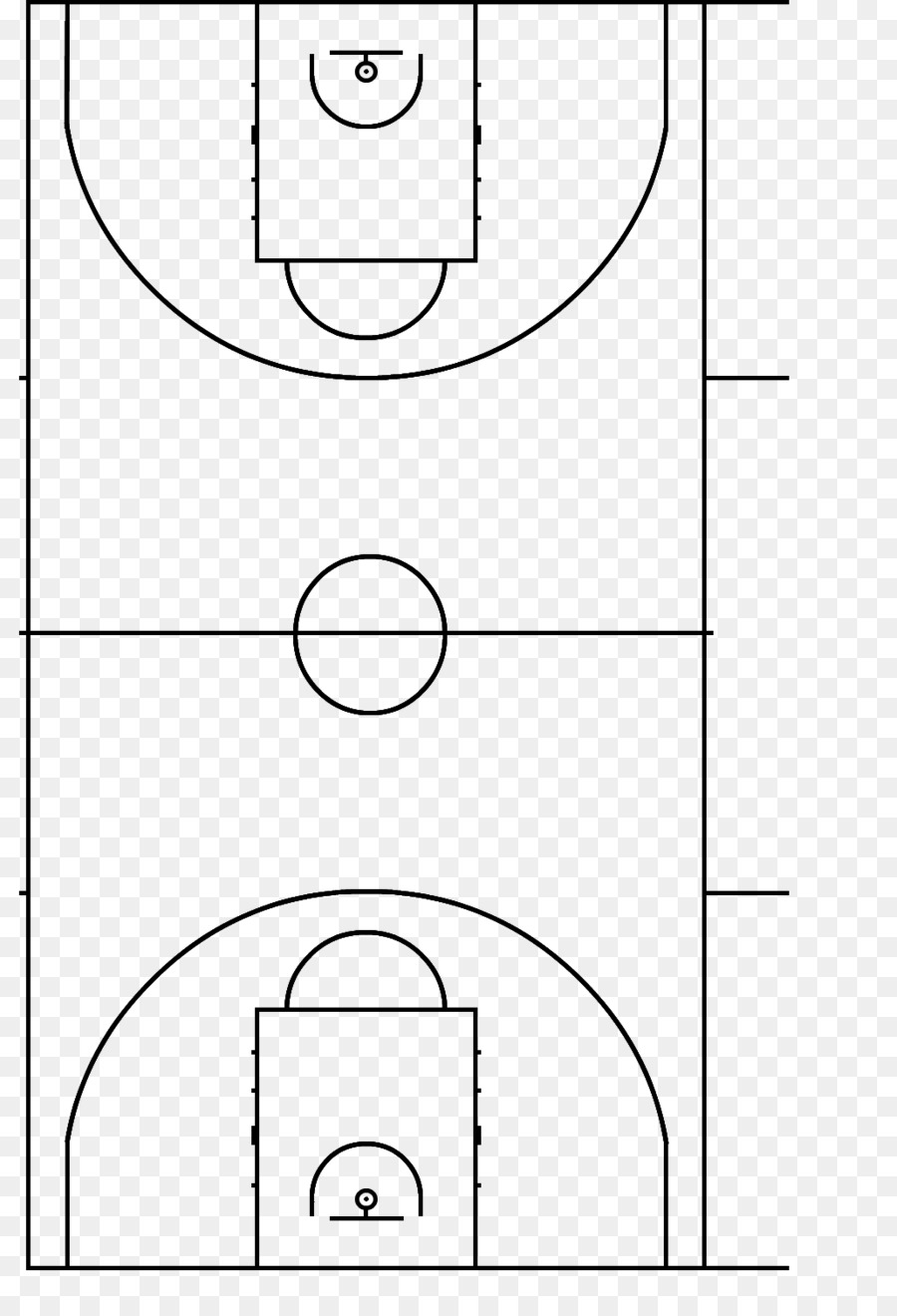 hight resolution of basketball court fiba basketball point line art png