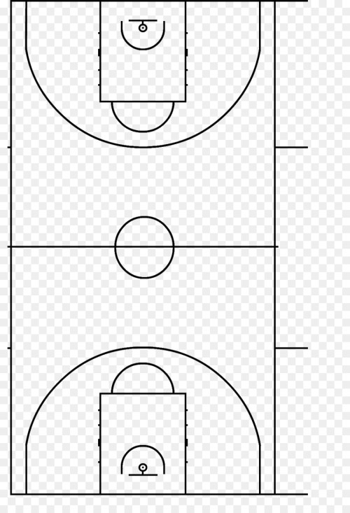 small resolution of basketball court fiba basketball point line art png