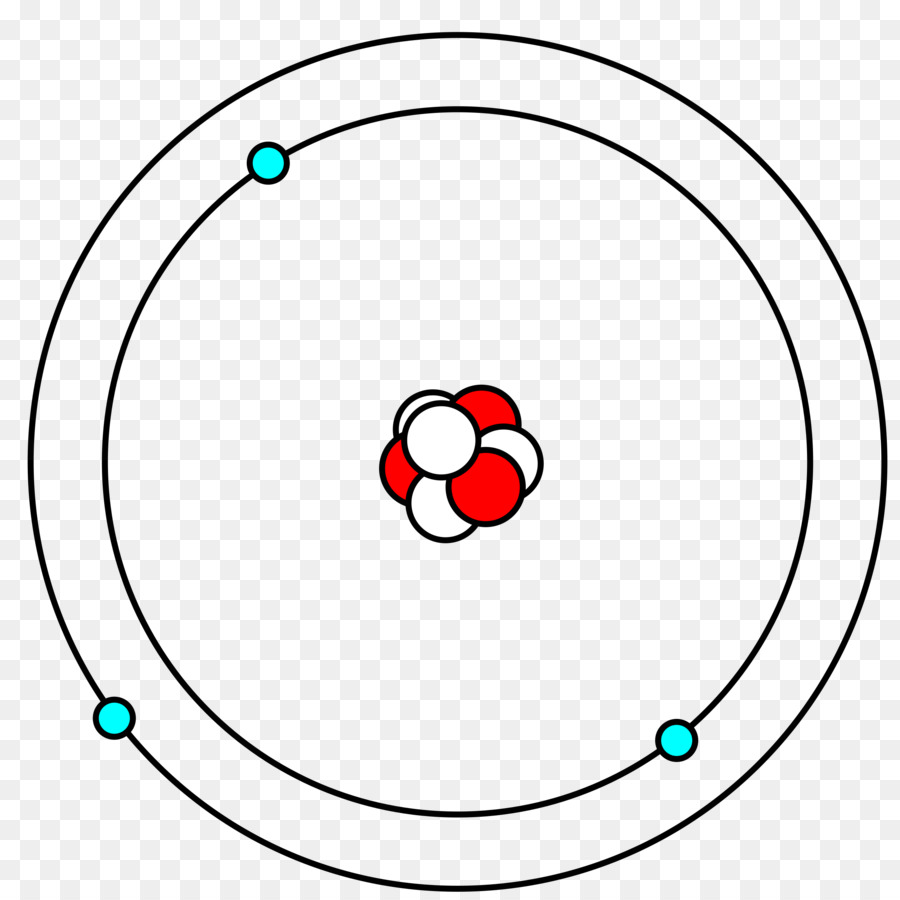 hight resolution of bohr model lithium atom angle symmetry png