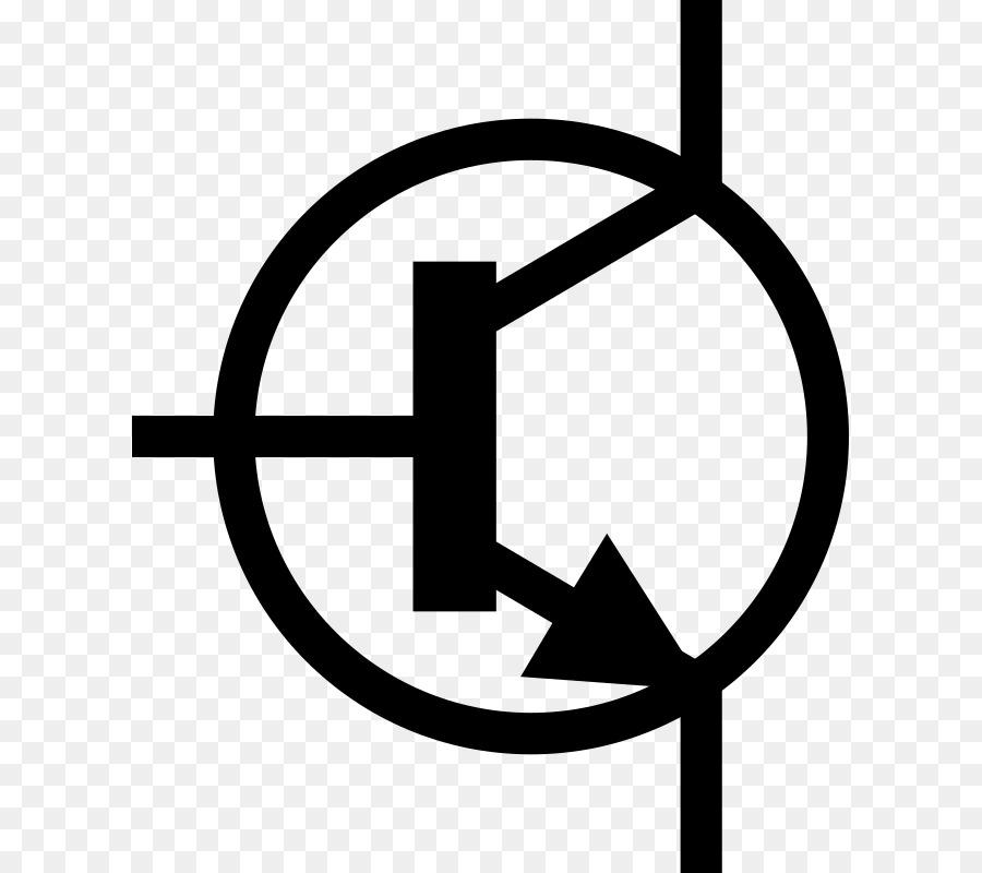 Electrónica símbolo del Transistor del circuito