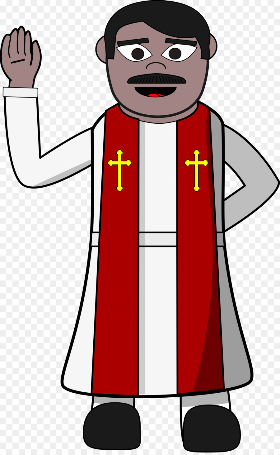 hight resolution of priest pastor cartoon clip art pastor