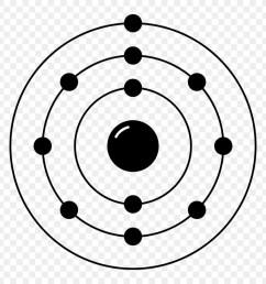 neon electron configuration bohr model line art symmetry png [ 900 x 900 Pixel ]