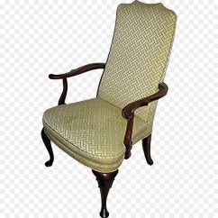 Queen Anne Style Chair Leather Office Furniture Wing Recliner Png Download