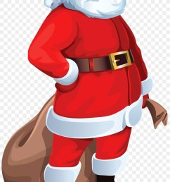 santa claus document presentation standing costume png [ 900 x 1480 Pixel ]