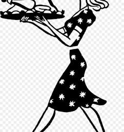 housewife turkey meat woman line art silhouette png [ 900 x 1360 Pixel ]