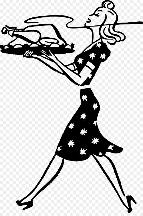 small resolution of housewife turkey meat woman line art silhouette png