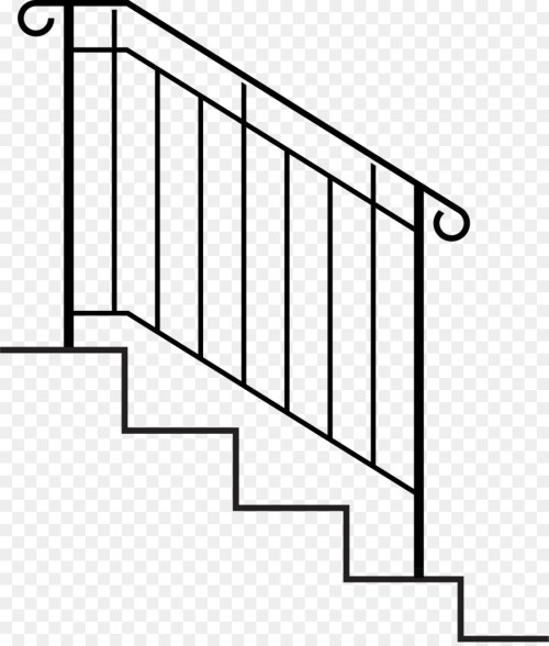 small resolution of handrail stairs wrought iron point rectangle png