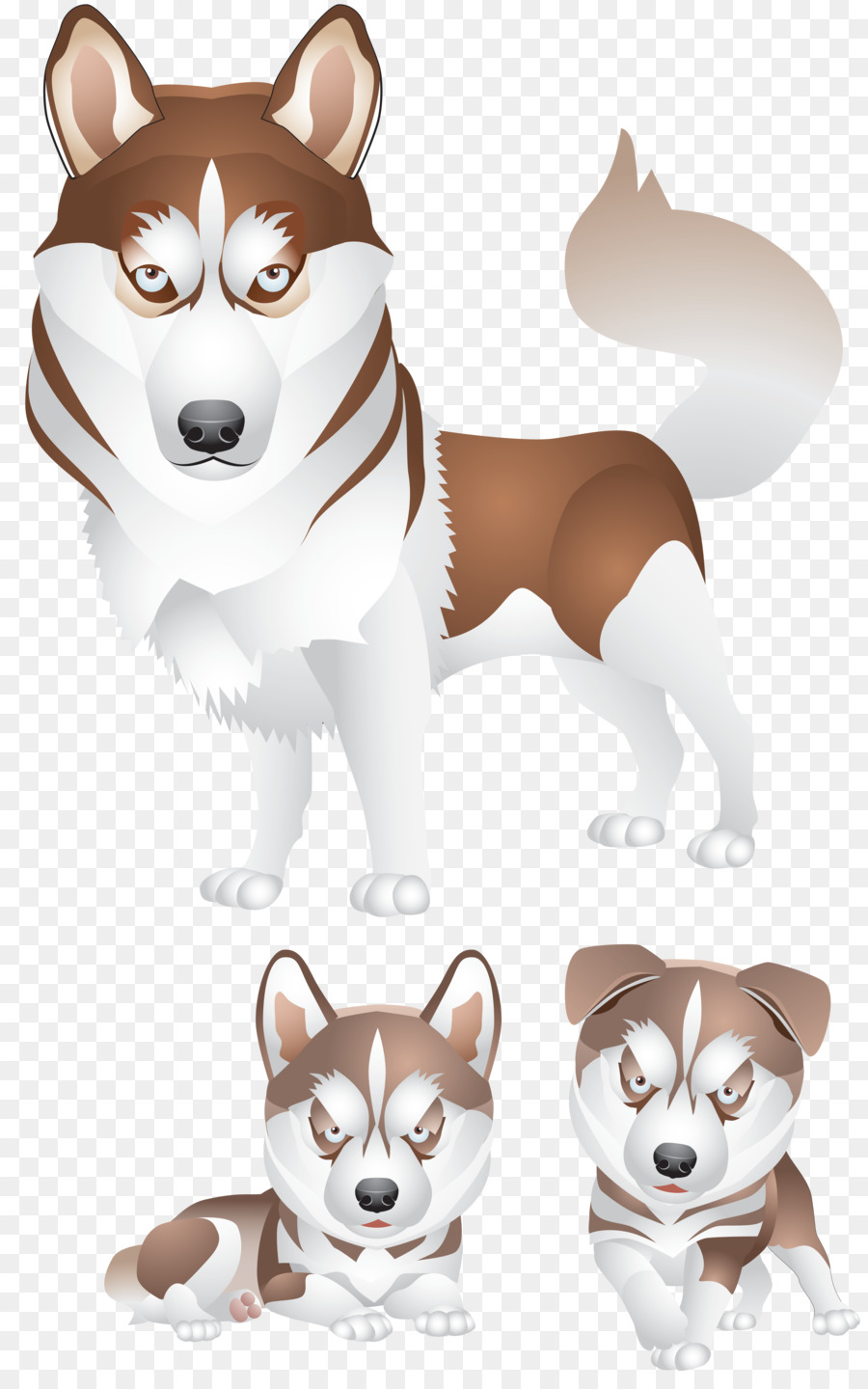 hight resolution of siberian husky puppy logo sled dog png