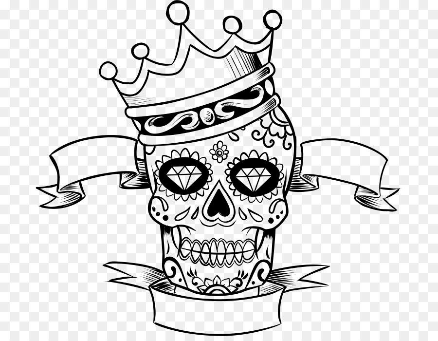 La Calavera Catrina Skull Day of the Dead Coloring book