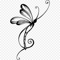 Dragonfly Tattoo Wall decal - dragonfly png download ...