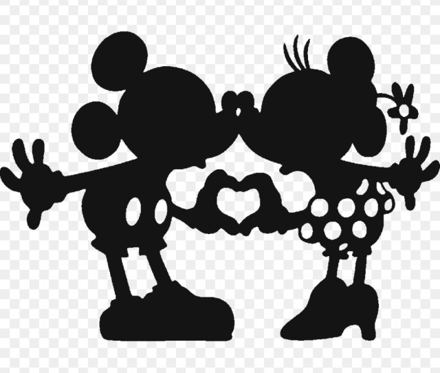 Minnie Mouse Mickey Mouse Walt Disney Company Silhouette Monochrome Photography Png