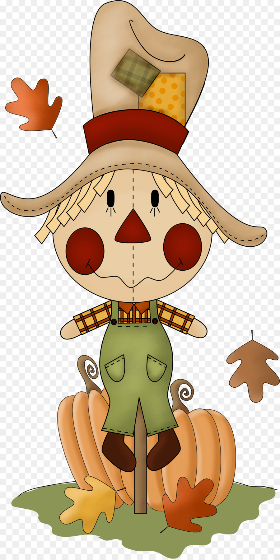 hight resolution of scarecrow autumn harvest cartoon pumpkin png